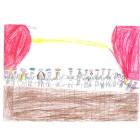 Dessin CP Maria- Atelier de création d' À Table ! avec les primaires de Jean Macé