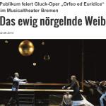 "Publikum feiert Gluck-Oper ""Orfeo ed Euridice"" im Musicalthe"