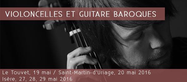 Violoncelles et guitare baroques