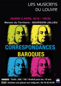 Affiche Correspondances Baroques © LMDL